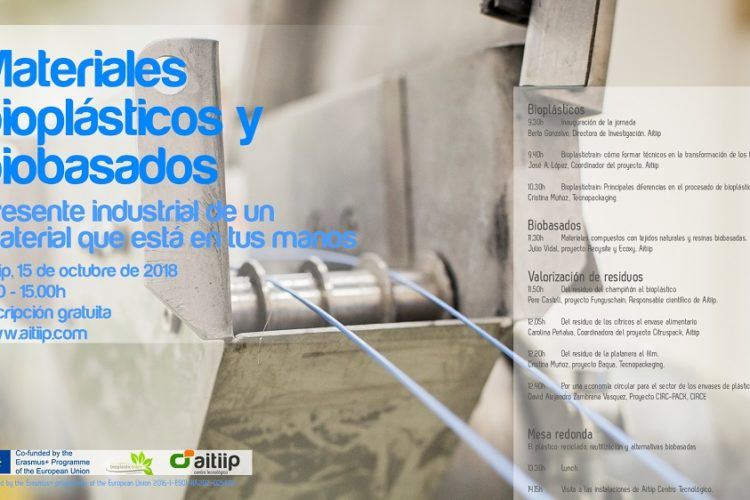 Project presentation and free training in Aitiip. Zaragoza (Spain) October 15th